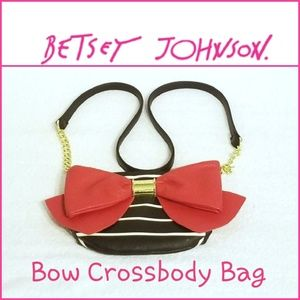 Betsey Johnson Red Bow Crossbody Bag